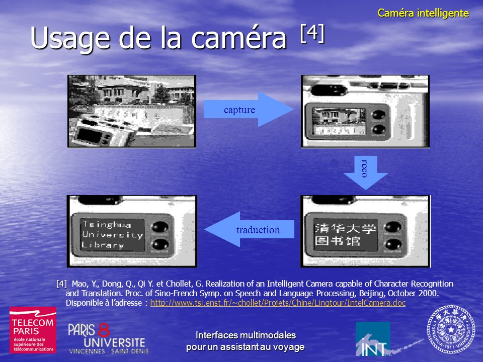 Usage de la caméra [4] Caméra intelligente capture reco traduction